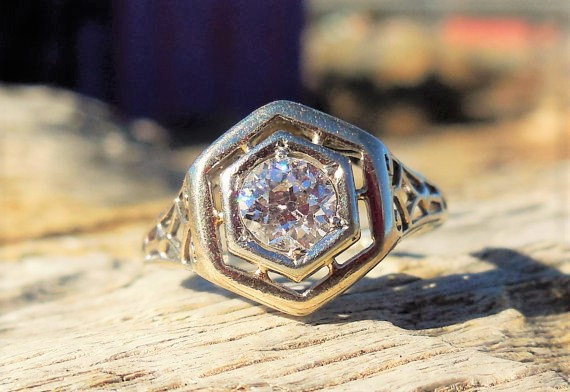 Pipe Cut Wedding Band