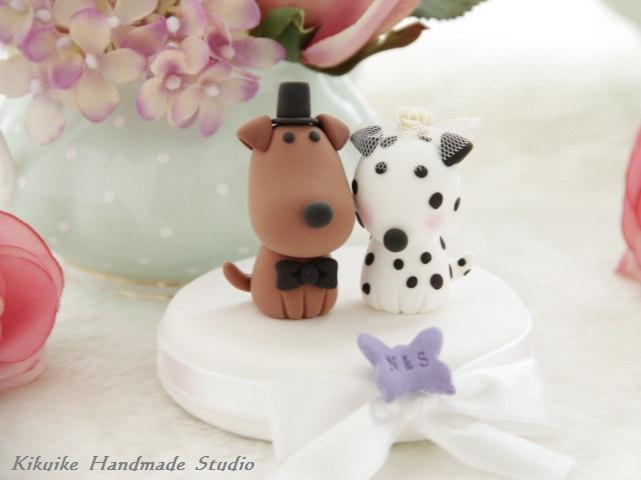 Свадьба - dogs Wedding Cake Topper-love dog ,Dalmatian---k8222