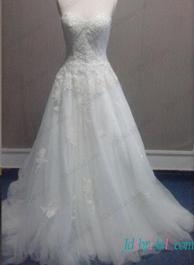 Wedding - Fairy sweetheart neckline tulle ball gown wedding dress