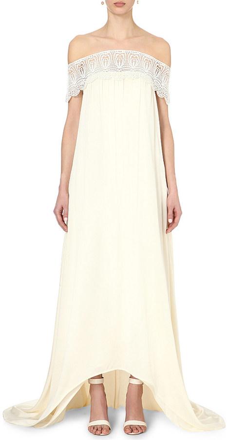 9532d5cf7651 SELF-PORTRAIT Bardot Off-the-shoulder Wedding Dress #2633848 - Weddbook