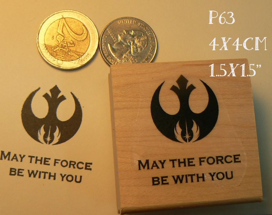 Wedding - P63 May the force be with you-- rubber stamp