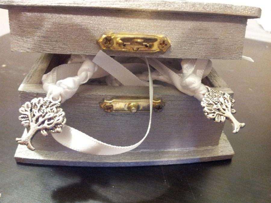 Wedding - Silver Purification Tree of Life Wedding Hand Fasting/ Binding Cord with Matching Keepsake Box