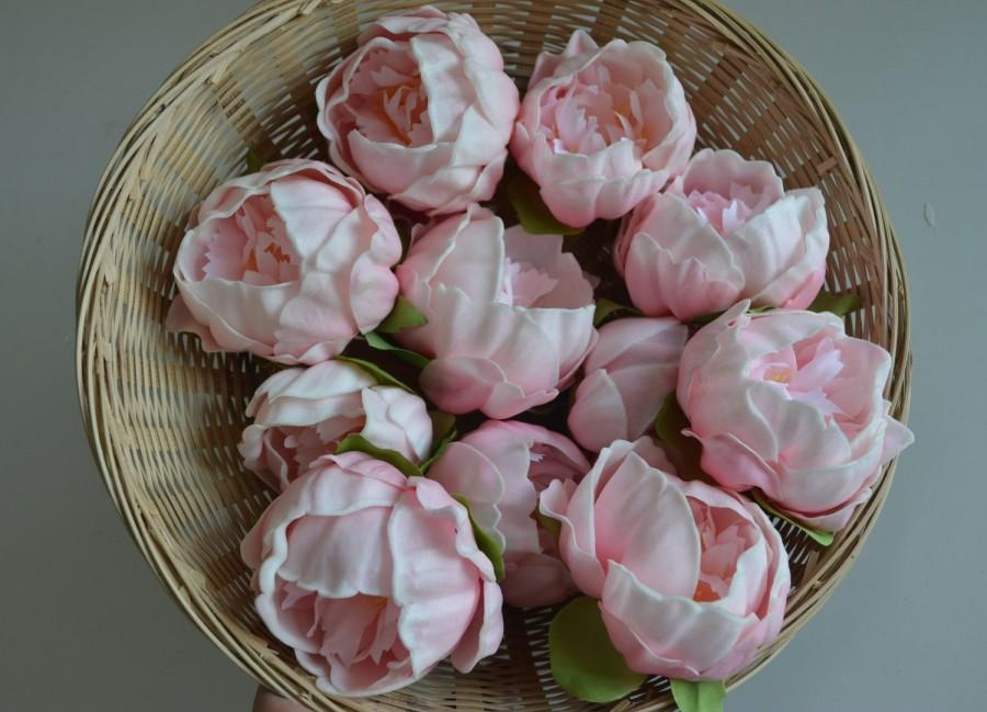 Wedding - 5 Colors Pink Peony Blooms Real Touch Flowers Peonies Cake Toppers Peonies Heads Wedding Decorations