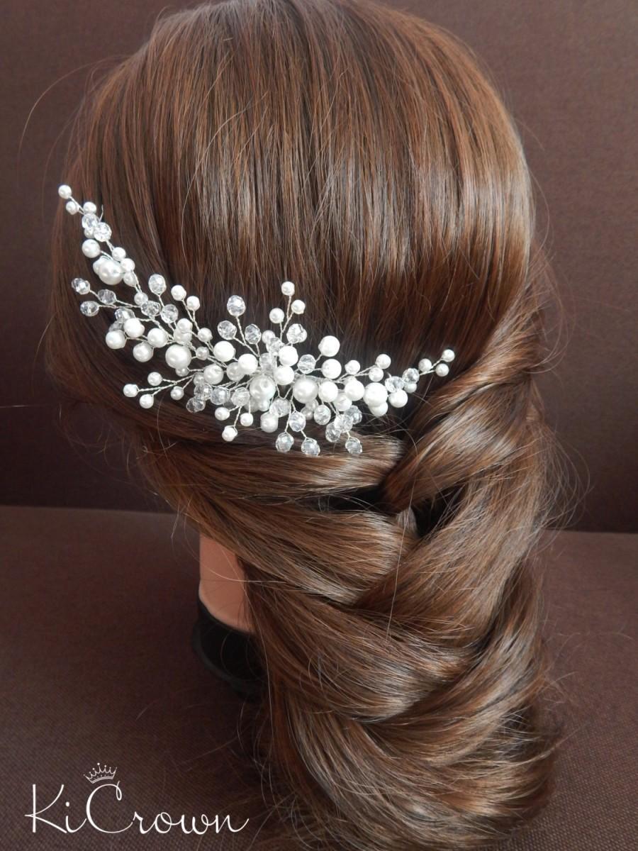 Mariage - Wedding hair comb Bridal hair comb Bridal headpiece Wedding hair piece Pearl hair comb Pearl hair piece, hair jewelry