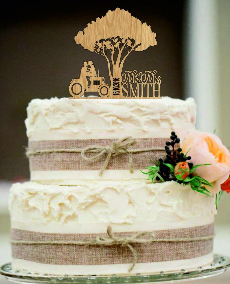 Tractor Wedding Cake Topper, Bride And Groom Wedding Cake Topper ...