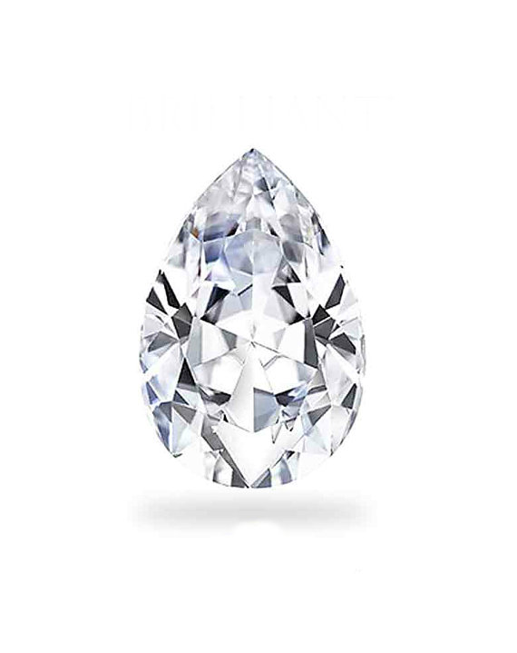 Hochzeit - Pear Forever One Moissanite PEAR-Shaped Loose Moissanite 10x7mm (2.25 ct)