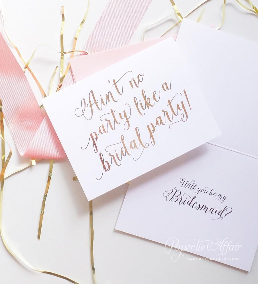 Cute Bridesmaid Proposal Will You Be My Bridesmaid Cards Aint – Party Proposal