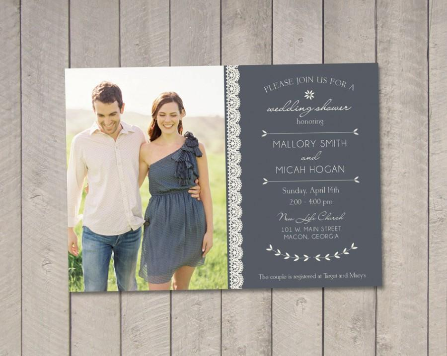 Hochzeit - Wedding Couples Shower Invitation DIY (Printable) by Vintage Sweet