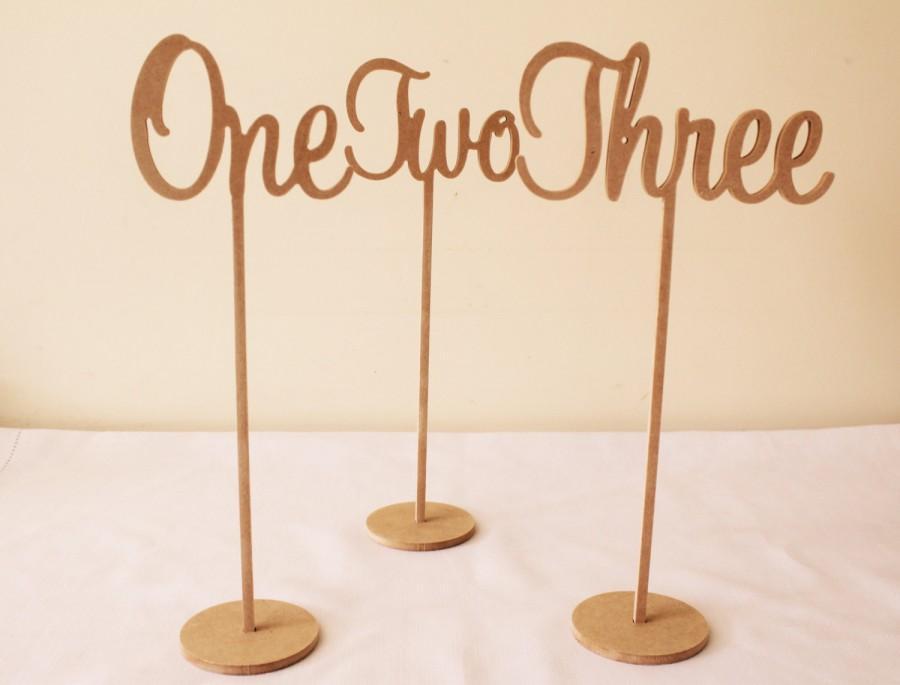 Free standing wedding special events wooden table numbers