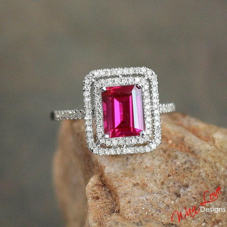 Popular NonTraditional Engagement Rings  Ruby Emerald