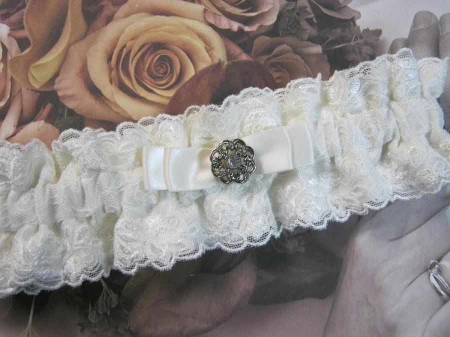 Mariage - Ivory Tulle Lace Garter