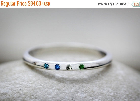 Mariage - CYBER MONDAY SALE -  silver birthstone ring,sapphire ring,topaz ring,diamond ring,emerald ring,stacking ring,silver ring,gemstone ring
