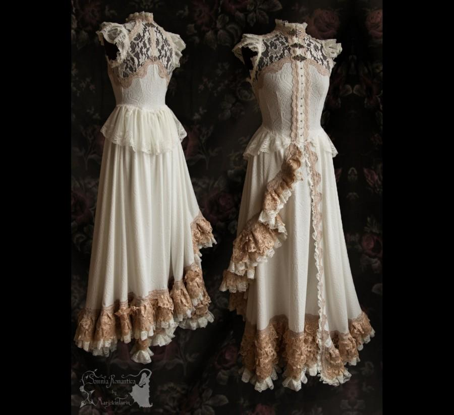 Art Nouveau Gown Ivory Pale Bridal Dress 2 Piece Victorian Somnia A Size Small Medium See Item Details For Measurements