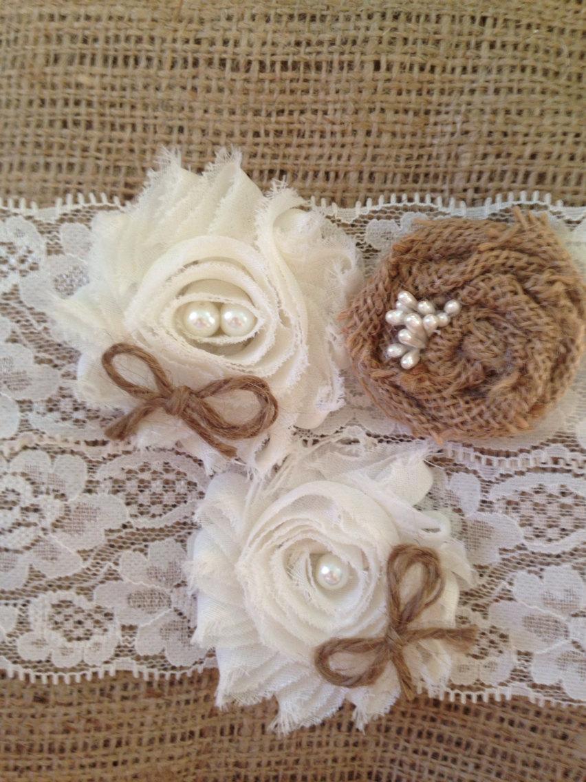 Mariage - Rustic Wedding Garter, lingerie, garter wedding, Ivory garter, wedding