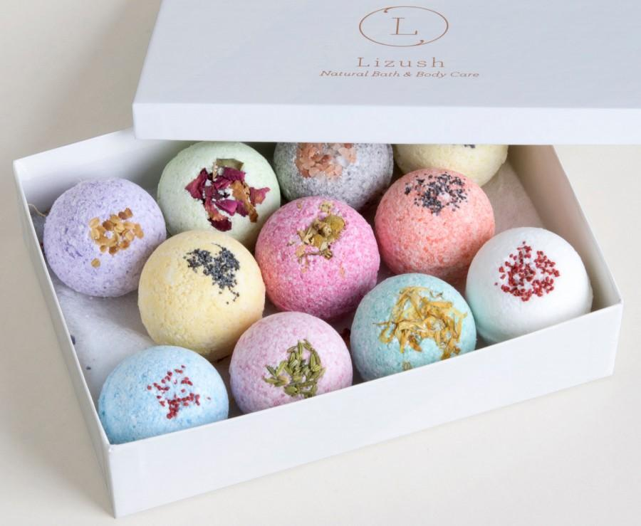 Mariage - 11 Bath Bombs. Natural Bath bomb gift, Spa Gift,Gift for her, Bath gift set, Bath Bombs, Christmas gift, Gift for best friend, Gift for mom