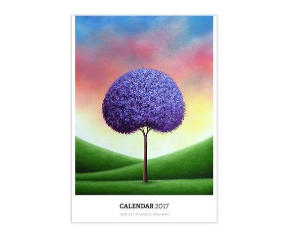 2017 Calendar, Monthly Calendar, Large Wall Calendar, Artsy Gifts ...