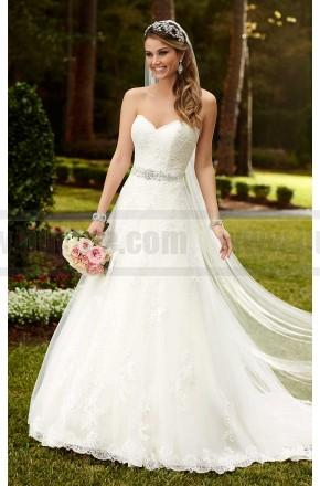 Mariage - Stella York Satin A-Line Princess Wedding Dress Style 6133