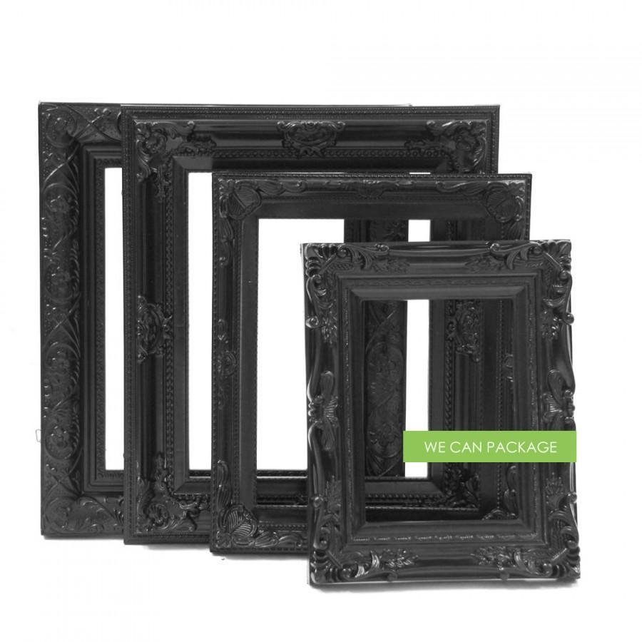 Boda - Black Picture Frames - Wedding Frames & Gothic Photo Frames - Set of 4