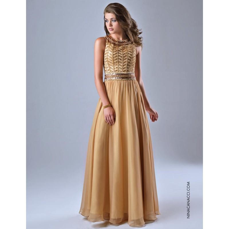 Wedding - Gold Nina Canacci 7112  Nina Canacci - Elegant Evening Dresses