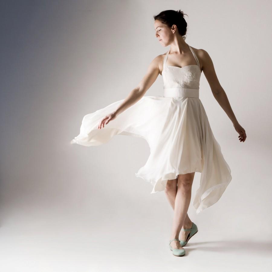 Short Wedding Dress Alternative Hippie Boho High Low Fairy Reception