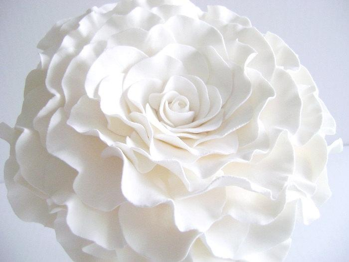 Single Flower Bouquet Glamelia Bouquet White Rose Bridal Bouquet ...