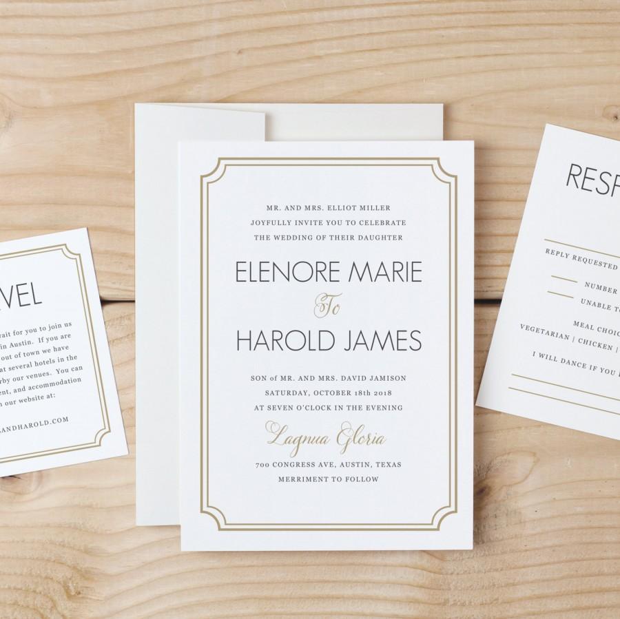 Mariage - DOWNLOAD & Print Wedding Invitation Template