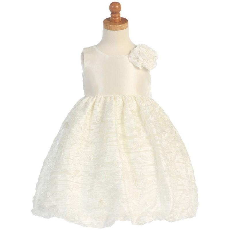 Wedding - Ivory Taffeta Bodice w/ Embroidered Tulle Dress Style: LM674 - Charming Wedding Party Dresses