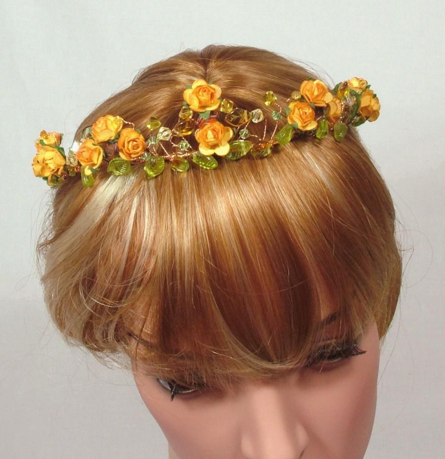 Medieval Wedding Tiara Bridal Headband Circlet Gold Wire With