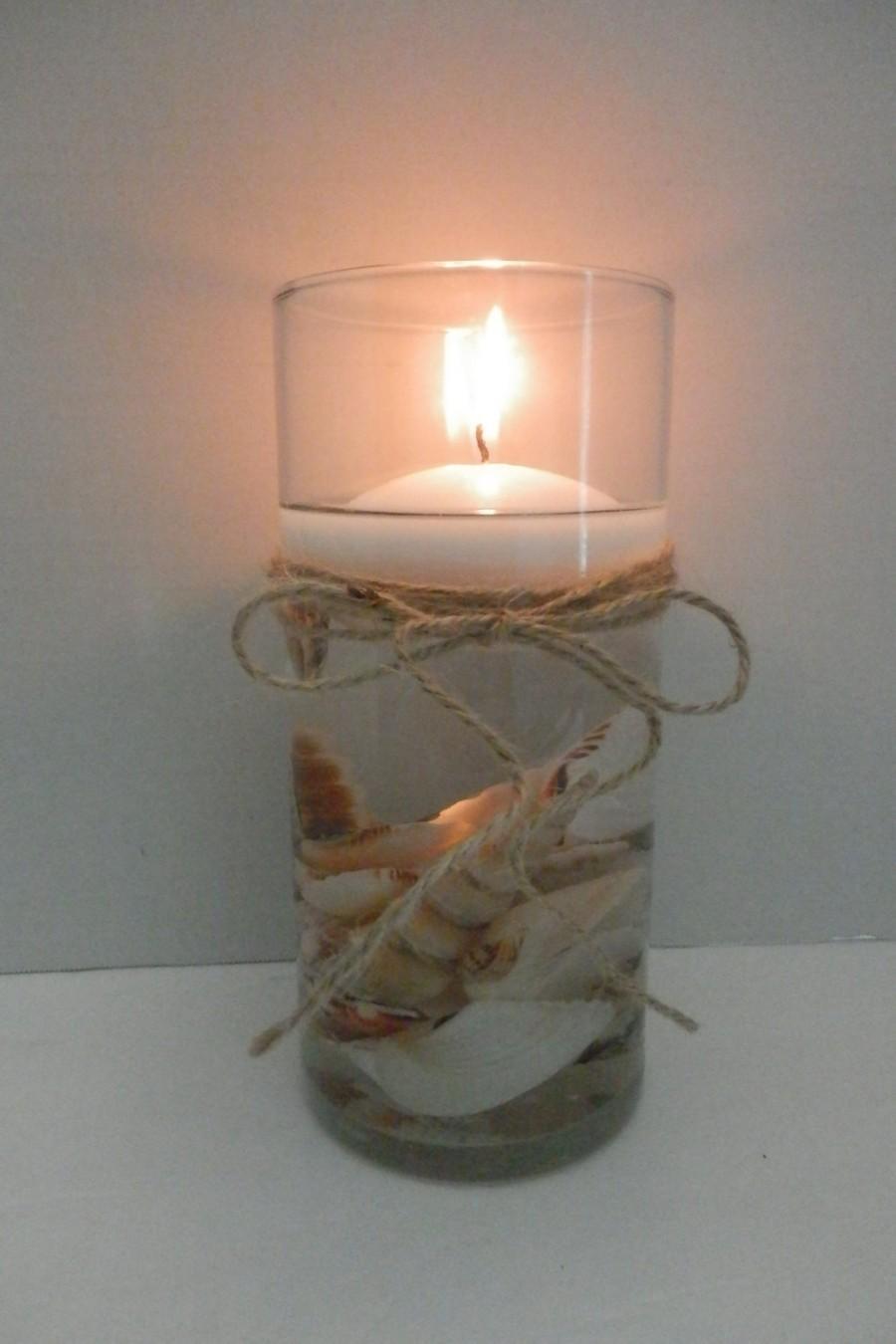 Hochzeit - Wedding centerpiece, Beach wedding centerpiece, Wedding decoration, Candle holder , Floating candle centerpiece