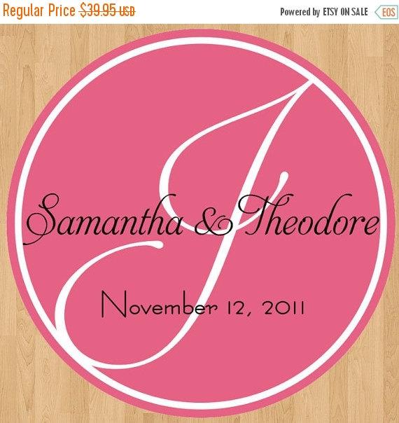 Mariage - SALE Wedding Sign Monogram Dance Floor Decal Signage