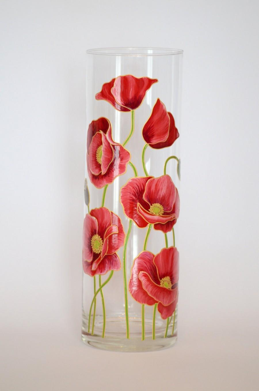 Wedding Gift For Friends Hand Painted Vase Flower Home Decor Wedding ...