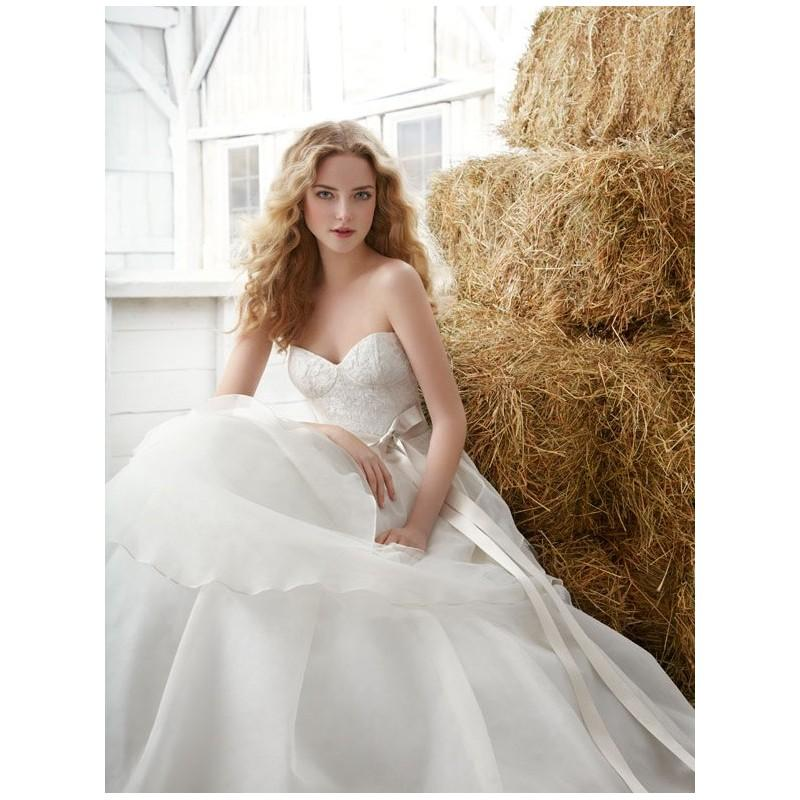Schöne Natürliche Ball Brautkleid Hochzeitskleid Mit Trägerlos ...