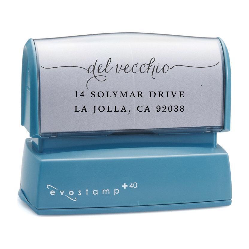 Mariage - Cursive Script Return Address Stamp - Custom Self Inking Stamp - Housewarming Gift - Family Holiday Stamp