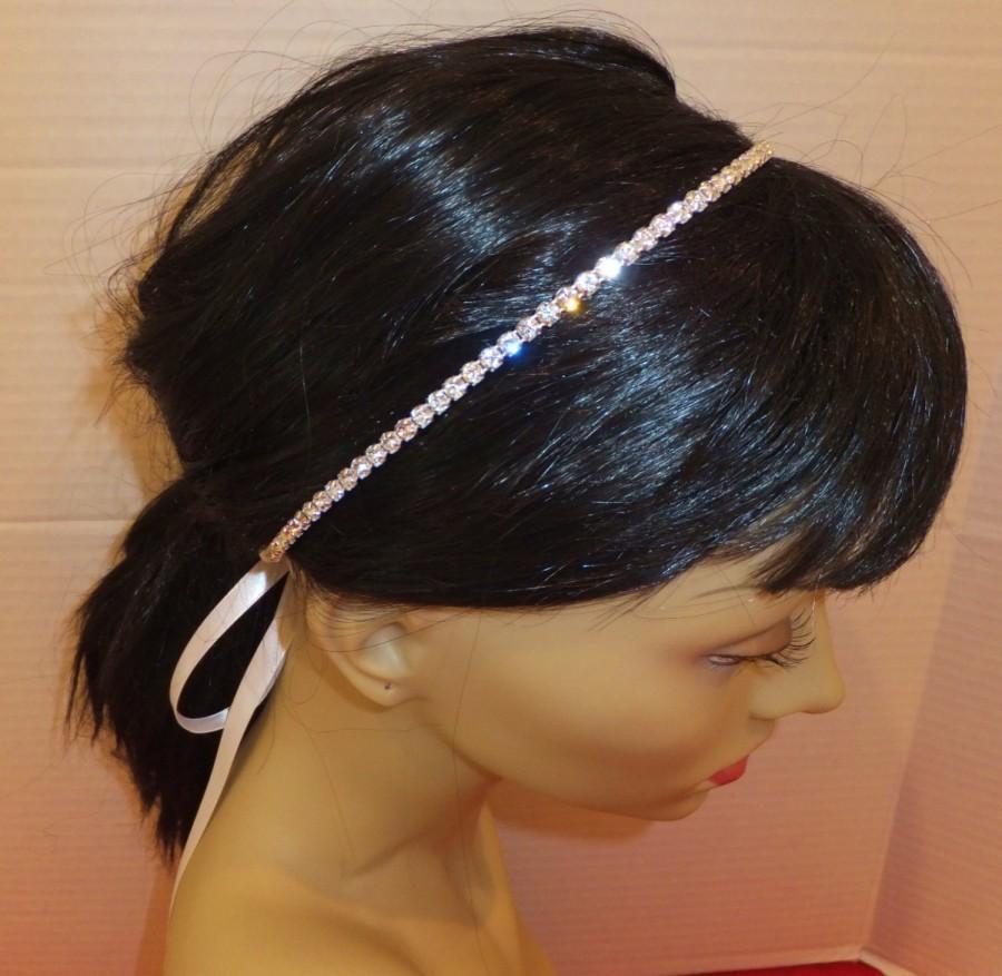 Mariage - Bridal Rhinestone Headband, Rhinestone Headband, MONIQUE, Rhinestone Headband