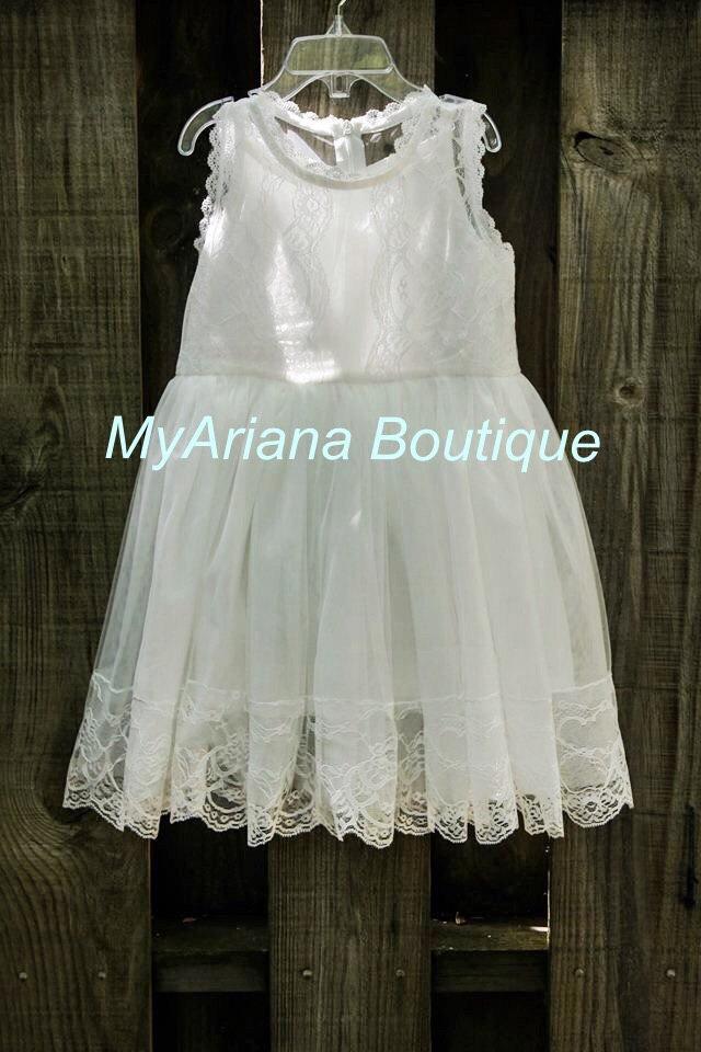 Wedding - baptism dress, vintage white flower girl dress, lace flower girl dress, girl dress, lace dress, baby girl dress, toddler dress