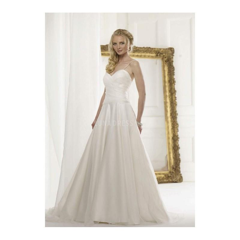 Sexy a line spaghetti straps organza floor length bridal for A line wedding dress with ruching