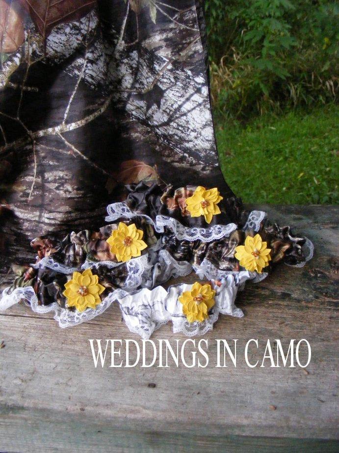 Mariage - CAMO GARTERS  In COLORS You choose color Camo Weddings