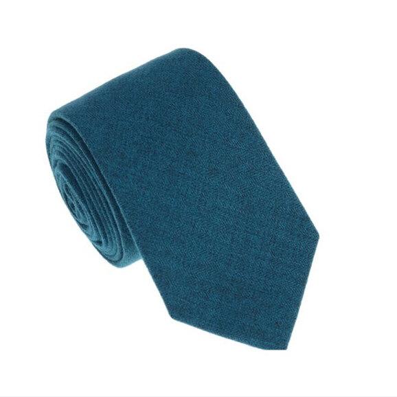 Свадьба - Teal Blue Wool Tie.Teal Wedding Tie.Teal Blue Wool Skinny.Mens Necktie.