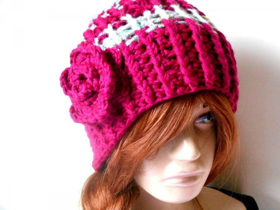 Wedding - Women's Knit Hats, Hand Knitted Hats, Winter Knit Hats, Knitted Women's Hats, Crochet Hats, Handmade Hats, Women's Knit Beret, Wine Color