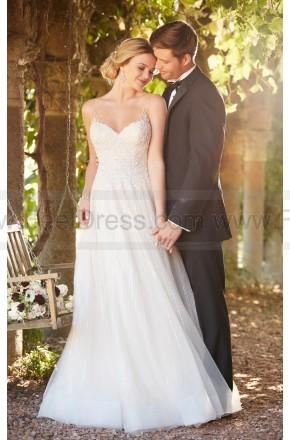 Wedding - Essense of Australia Soft Shimmer A-line Wedding Dress With Unique Back Detail Style D2280