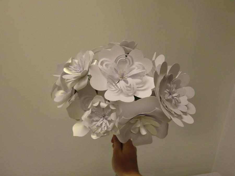 Свадьба - Paper Flower Bridal Bouquet