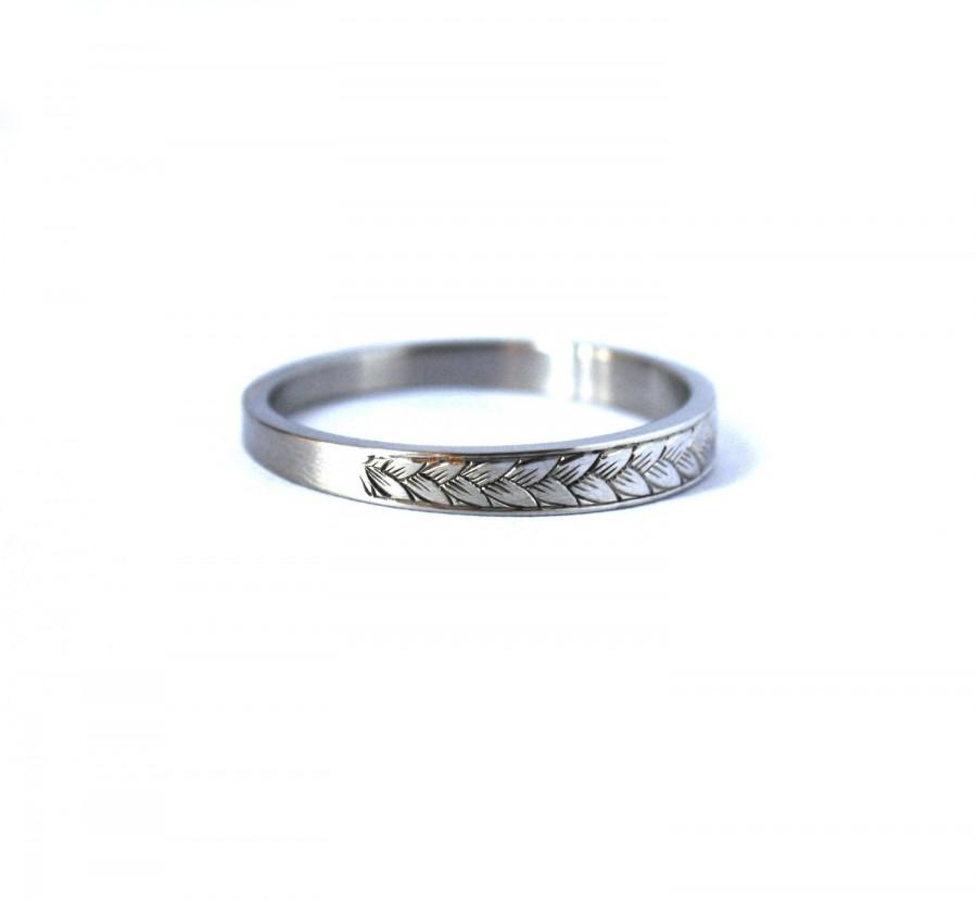 Platinum 2mm Hand Engraved Wedding Band With Milgrain: Hand Engraved Platinum Wedding Band #2635682