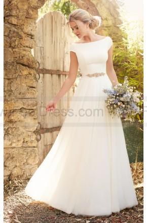 Nozze - Essense of Australia Modest Luxe Boho Wedding Dress Style D2304