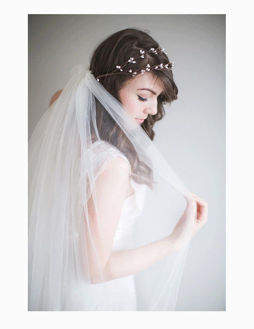 Mariage - Bridal Flower Crown, 1920s wedding, Boho Bridal Crown - Rosalie
