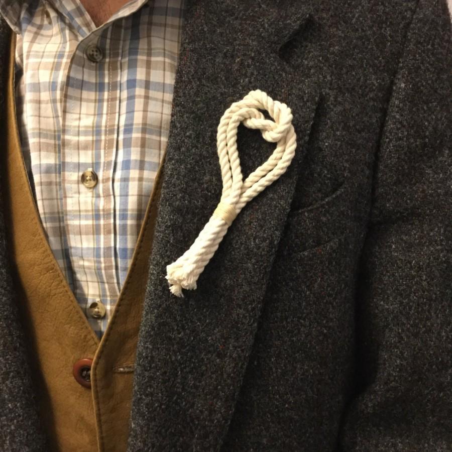 Hochzeit - Nautical Boutonniere - Nautical Wedding Boutonniere - Rope Lapel Pins