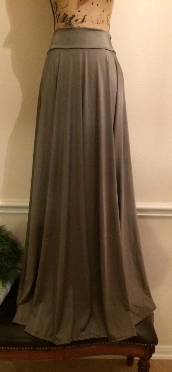 Wedding - Long Lycra Skirt - Maxi Jersey Skirt - Wedding Skirt - Bridesmaid Dress - Womens Custom Skirt - Flowing Maxi Skirt - Skirt by breauxsews