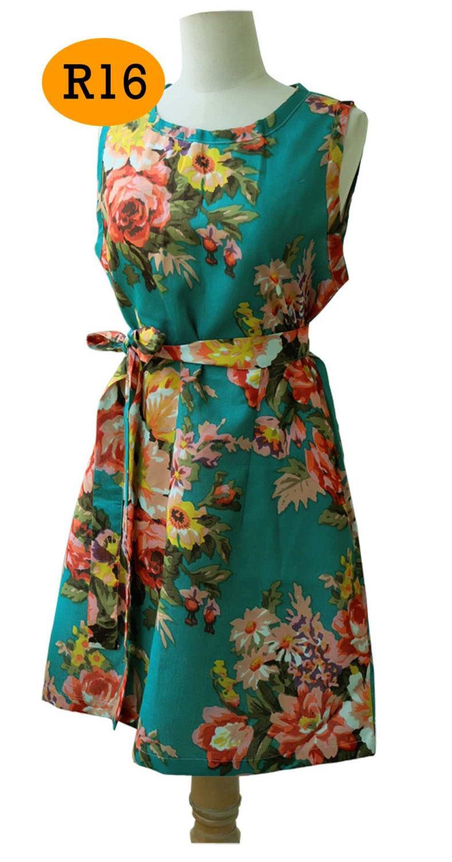 Свадьба - Floral Wedding  Dress Teal, Bridesmaid Dress, Vintage Style Wedding  Gift Dress, Wedding Gift Idea, Dress short, knee length dress