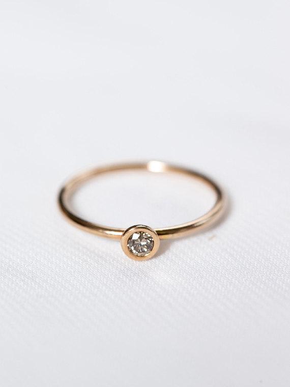 Mariage - 14k Rose Gold Engagement Ring