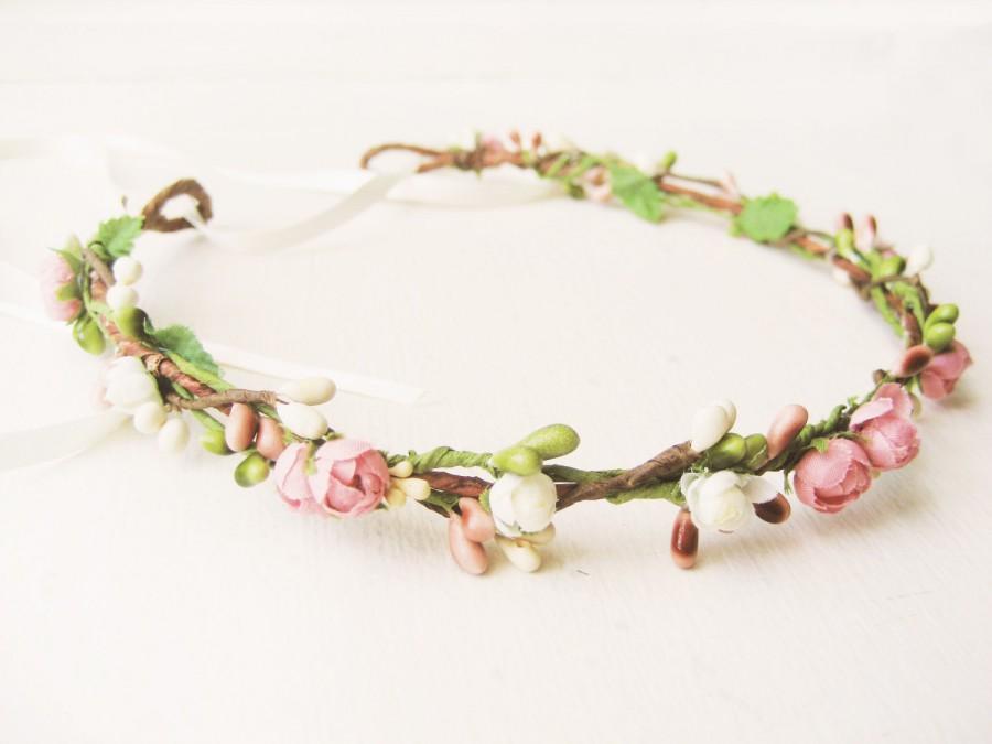 Wedding - Wedding hair crowm, Flower crown, Floral headband, Bridal headpiece, Floral crown - SWEETHEART