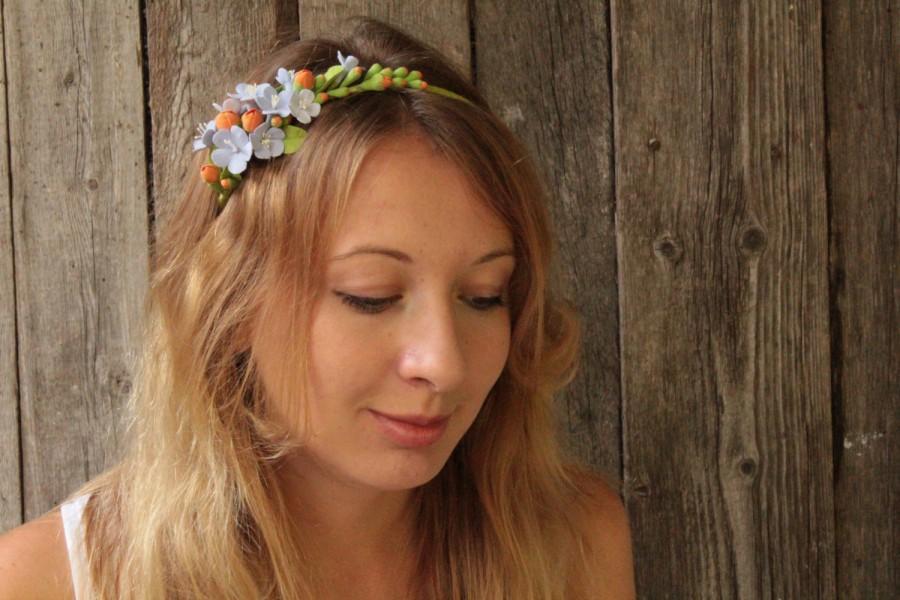 Свадьба - Hair aliceband polymer clay flower.